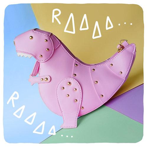 Pink T-Rex Dinosaur Crossbody Bag