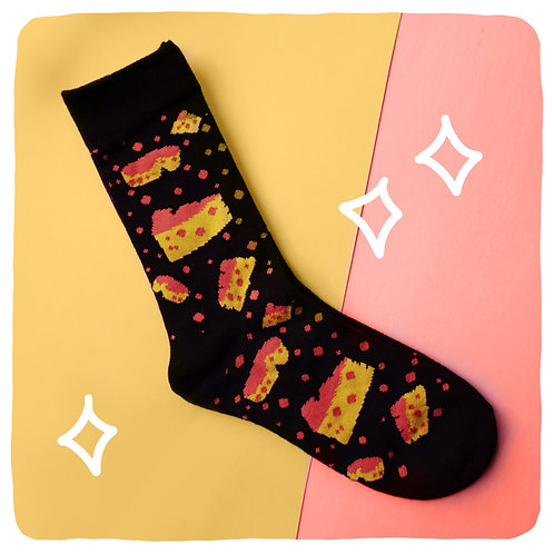 Swiss-terious Cheese Patterned Socks