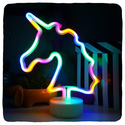 Rainbow Unicorn Neon Lamp