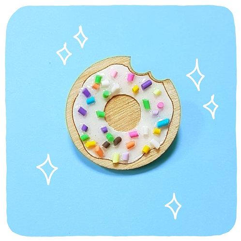 Doughnut Brooch