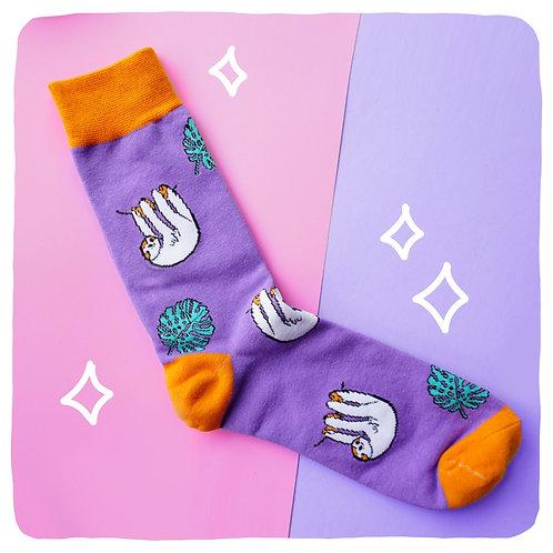 Sleepy Sloth Patterned Socks