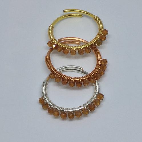 Gemstone stacker ring