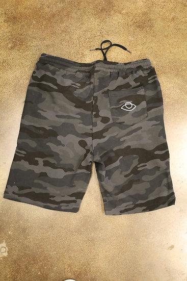 Black Camo Basic EyESeE Embroidered Logo Shorts