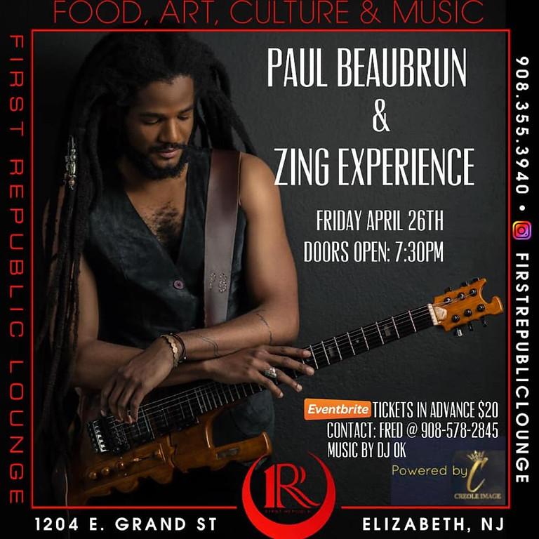 Paul Beaubrun & Zing Experience