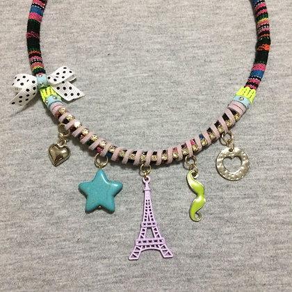 Paris Je t'aime Lilac Necklace