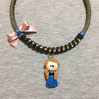 Anna Necklace with Pink Lace (Frozen)
