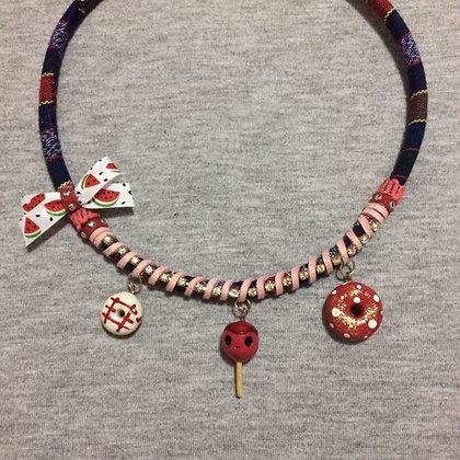 Lollipop Red Necklace