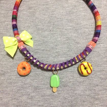 Popsicle Necklace (Yellow Lace)