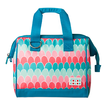 Coralia Lunch Box Handbag Turquoise