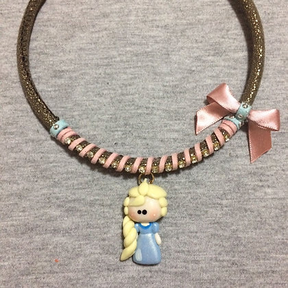 Elsa Necklace with Pink Lace (Frozen)