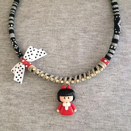 Mafalda Necklace (White Lace)