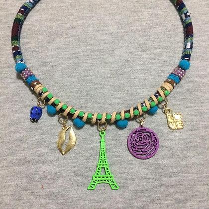 Paris Je t'aime Green Necklace