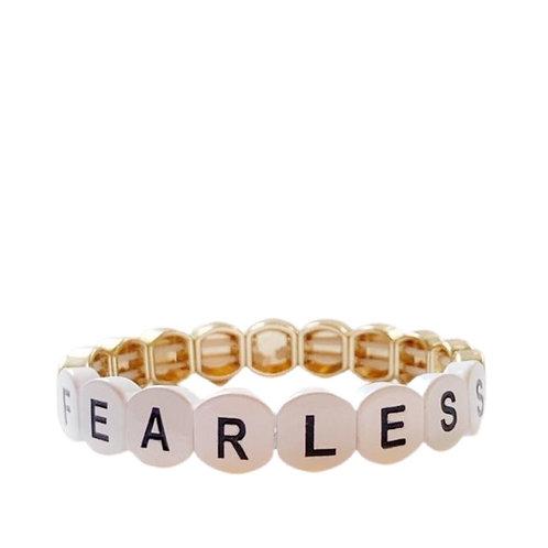 FEARLESS word tile bracelet