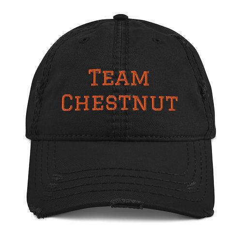 Team Chestnut Distressed Dad Hat