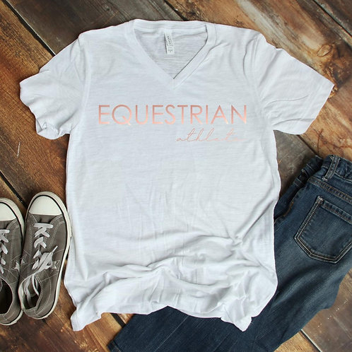 Equestrian athlete v neck short sleeve shirt