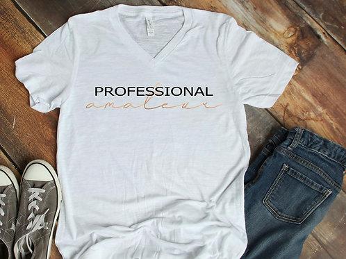Professional Amateur v-neck slub short sleeve shirt