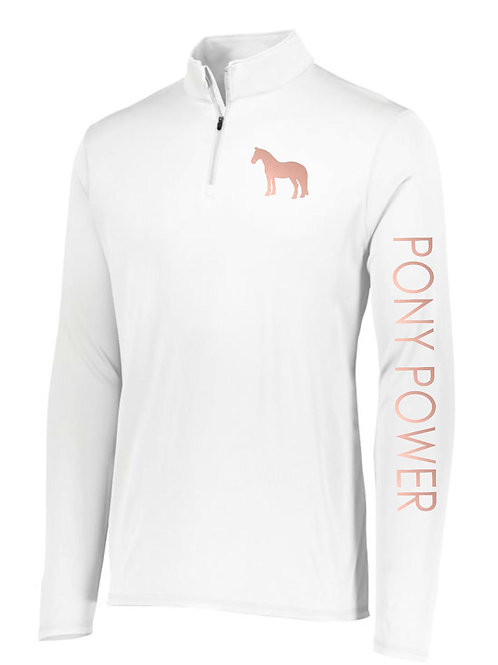 Pony Power 1/4 Zip Long Sleeve Shirt // Youth Sizes