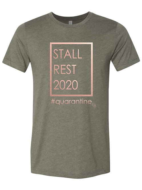 Stall Rest 2020 military green short sleeve shirt