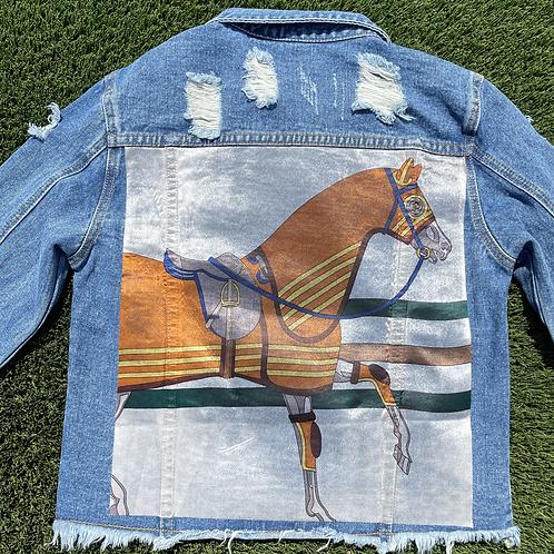 The Charlotte cropped jean jacket SIZE MEDIUM