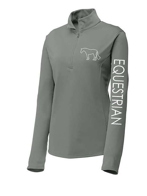 Equestrian 1/4 Zip Long Sleeve Performance Shirt