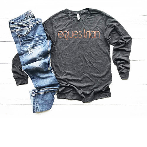 Modern Equestrian Long Sleeve Shirt