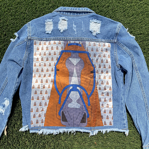 The Charlotte cropped jean jacket SIZE LARGE
