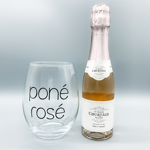 Poné Rosé Stemless Wine Glass