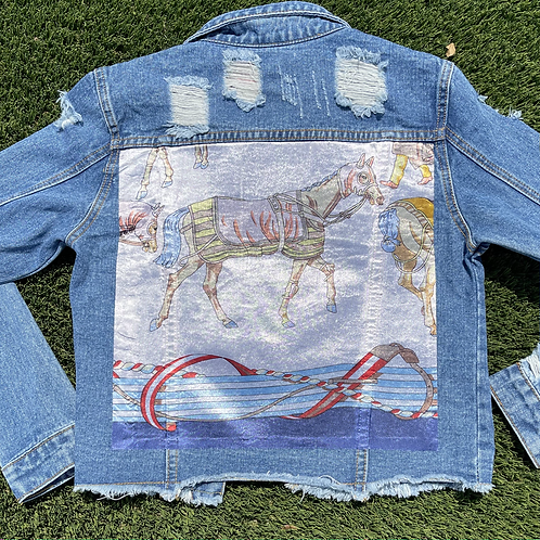 The Charlotte cropped jean jacket SIZE SMALL