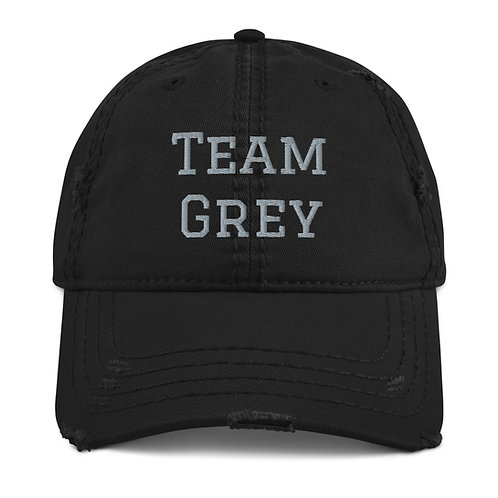 Team Grey Distressed Dad Hat