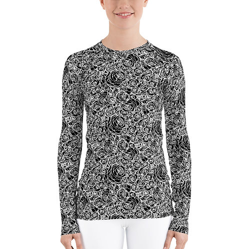 The Aria-Women's black roses base layer