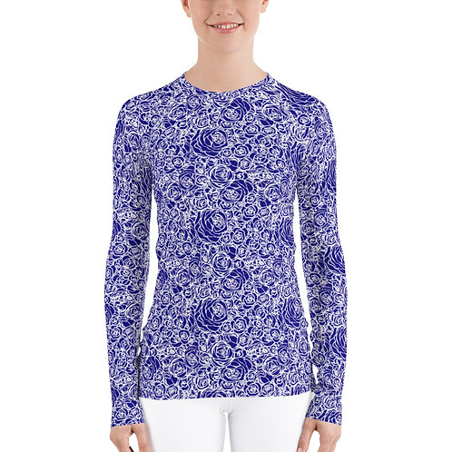 The Aria-Women's blue roses base layer