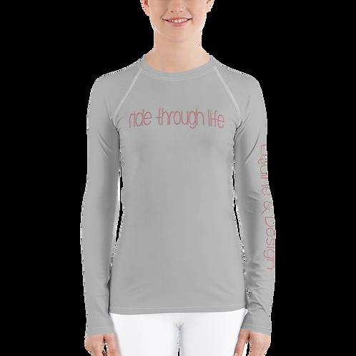 Women's Base Layer Riding Shirt-grey