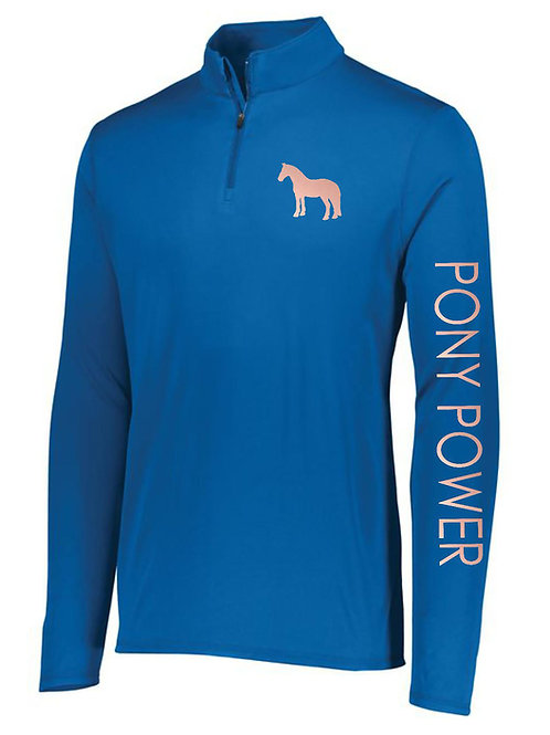 Pony Power 1/4 Zip Long Sleeve Shirt // Youth Sizes