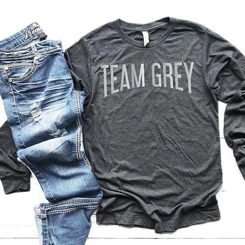 Team Grey Long Sleeve Shirt