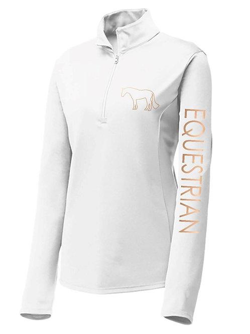 Equestrian 1/4 Zip Long Sleeve Performance Shirt