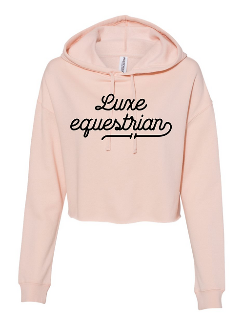 Luxe Equestrian cropped blush hoodie