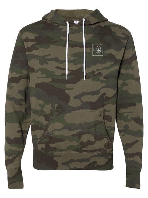 Eq & D logo green camo hoodie