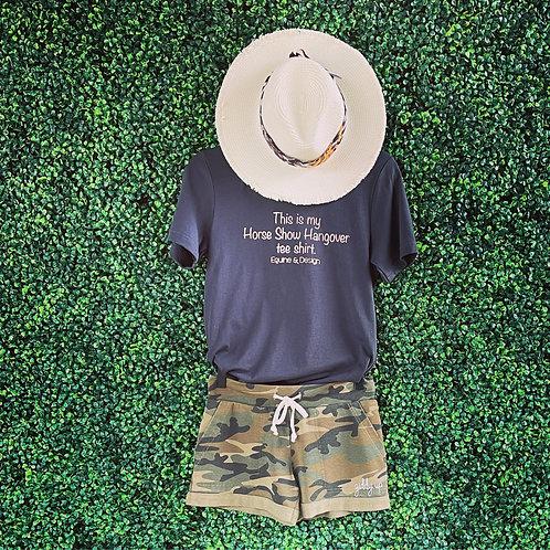 Women's Green Camo Lounge French Terry Shorts