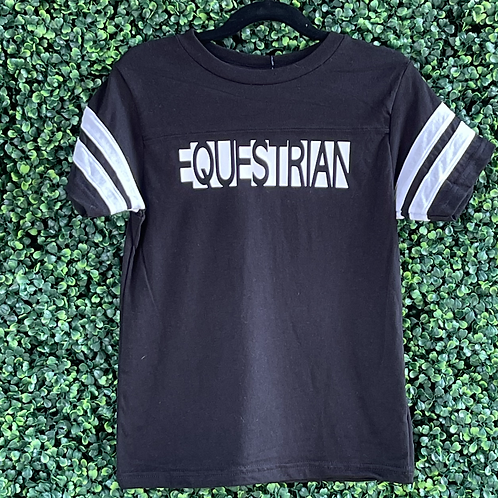 Equestrian youth football fine jersey tee