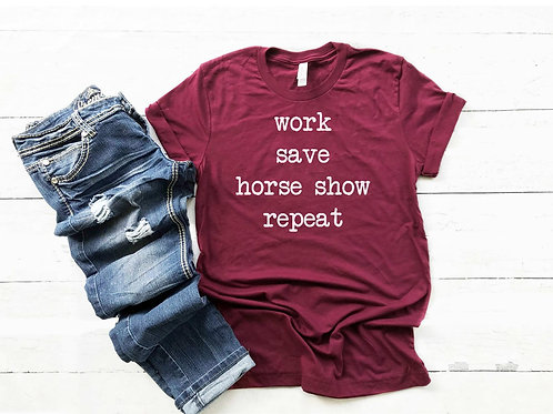 Work Save Horse Show Repeat short sleeve shirt