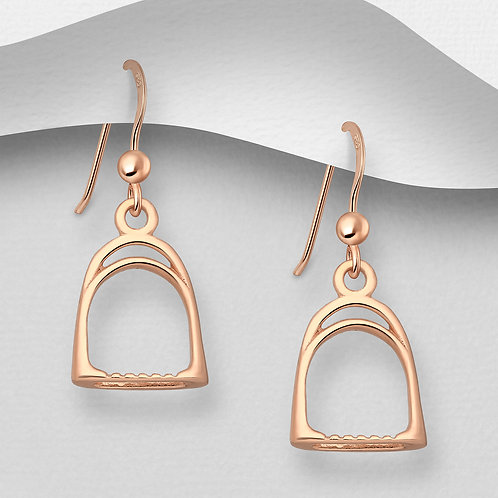 Rose Gold Stirrup Earrings
