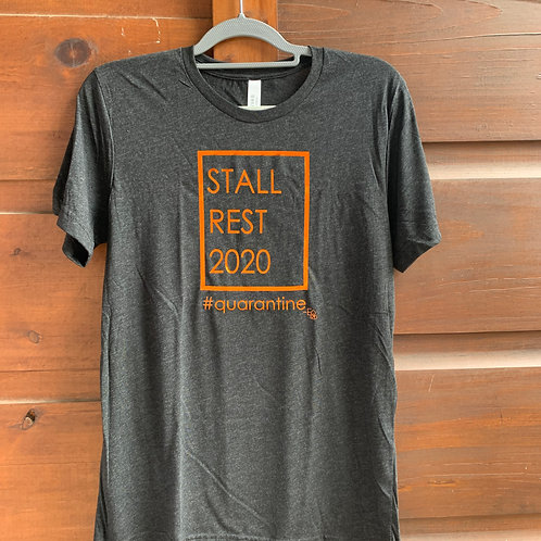 Stall Rest 2020 grey short sleeve shirt-Fall color!