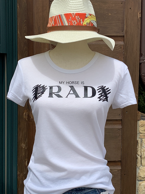 My horse is RAD ladies fitted shirt