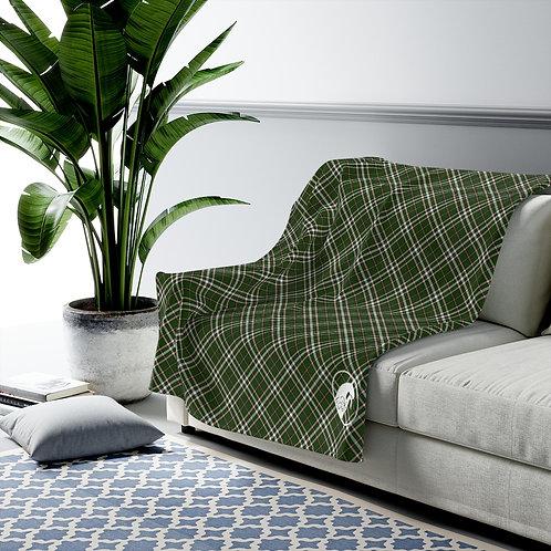 Velveteen Plush Blanket in exclusive Equine & Design tartan pattern