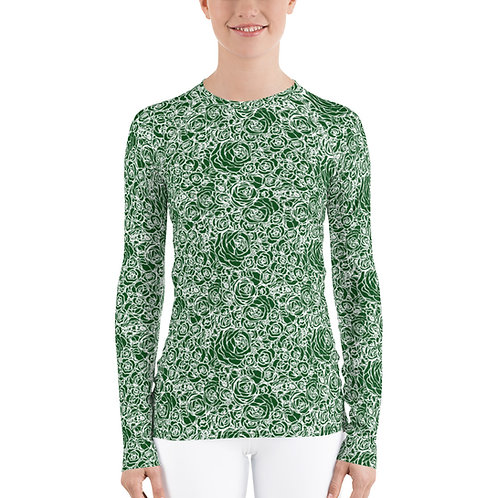 The Aria-Women's green roses base layer