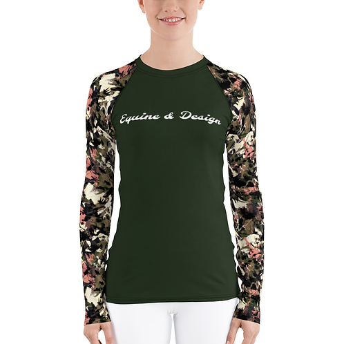 Autumn Hunter Green and Camo Base Layer