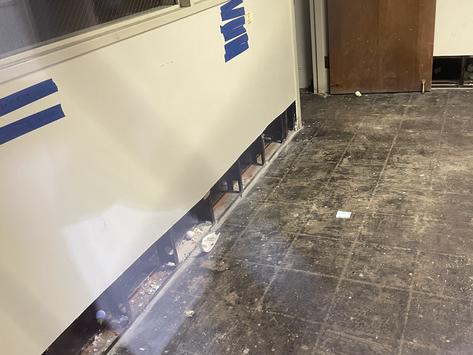 Asbestos found in Campus Center requires abatement of contaminated materials