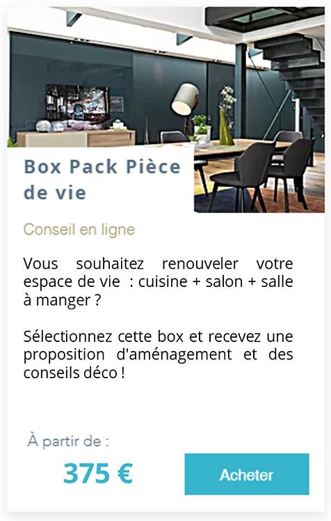 Box Pack Pièce de vie