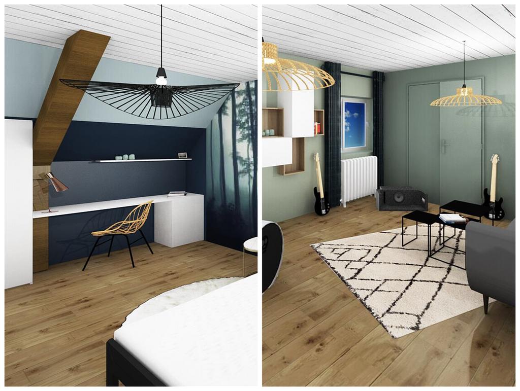 Amenager Un Placard Existant idée d'aménagement : visite d'un étage avec salle de musique