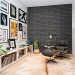 Koziel, Papier peint briques noires anth